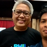 With the maestro, Ryan Cayabyab.